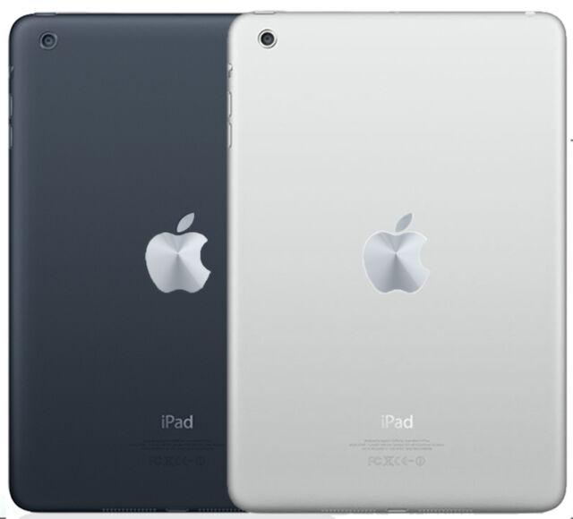 Apple iPAD MINI LOGO SKIN : Metallic Silver - decal sticker vinyl tablet decor