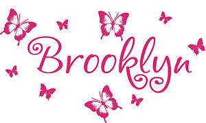 Personalized-Butterflies-Written-Name-removable-vinyl-wall-decal