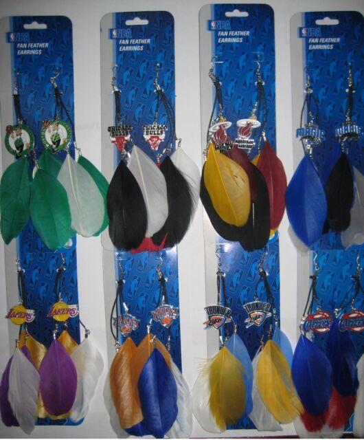 NBA Fan Feather Hook  Earrings - Pick Team