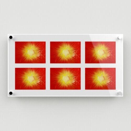 """Montado en la Pared Acrílico Multi Marco de fotos 058 imágenes posee 6-5/""""x7/"""" nivel libre"""