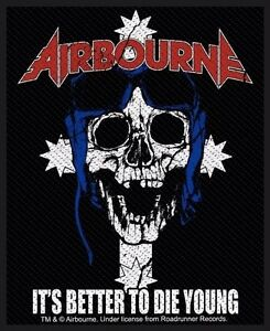 AIRBOURNE-Patch-Aufnaeher-It-s-better-to-die-young-8x10cm