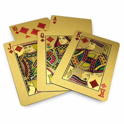 ▓▒░USA SELLER░▒▓ 24K Gold Plated Poker Playing Card (Bicycle KEM CopaG Modiano)