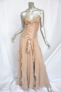 versace nude corset long gown dressmuseum piecered