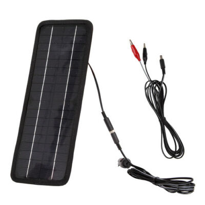 4.5 Watts 12V Solar Panels Battery Charger for Car RV SUV Truck Boat Motorcycle