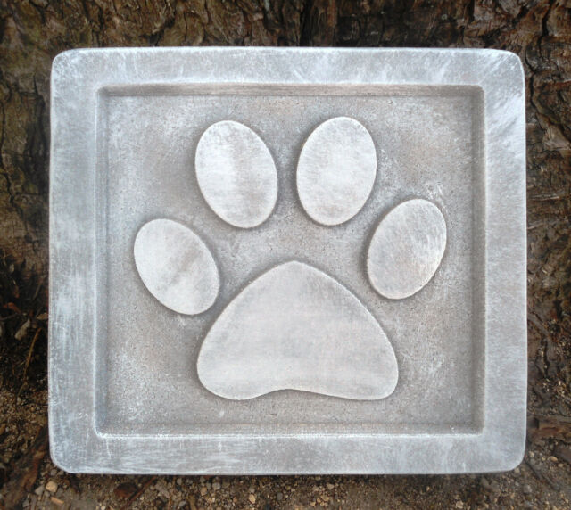 gostatue plastic dog puppy paw stepping stone mold garden mould plaster concrete