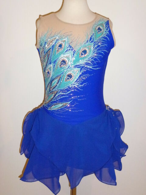 BEAUTIFUL FIGURE ICE SKATING DRESS CUSTOM MADE TO FIT