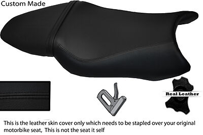 BLACK CUSTOM 97-05 FITS HONDA VTR 1000 F FIRESTORM LEATHER SEAT COVER