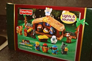 Fisher-Price-Little-People-Nativity-Set-Christmas-Story-NIB-NEW-Jesus-Angel-KiDs