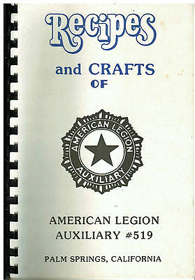 *PALM SPRINGS CA VINTAGE *RECIPES & CRAFTS *AMERICAN LEGION COOK BOOK *LOCAL ADS