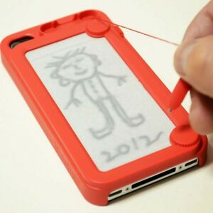 Creative-Writing-drawing-doodle-scribble-board-pad-iphone-4-4s-case-cover-Red