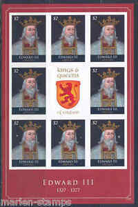 GRENADA KINGS & QUEENS OF ENGLAND EDWARD II IMPERFORATED SHEET NH