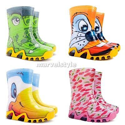 BABY BOYS & GIRLS WELLINGTON BOOTS WELLIES RAINY BOOTS UK size 3-11 / EUR 20-29