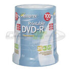 Support de stockage 16x Memorex Inkjet Printable DVD-R Discs, 4.7GB, 16x, Spindle, Silver, 100/Pack (32025642)