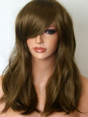 Light Brown Wig Fashion medium natural wig party costume Lady Ladies Wig UK L17