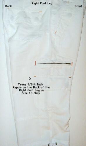 - 17 JR SIZES 11 M L - NWT $17 XL - 13 7 POCKET CROP PANTS – WHITE NOBO