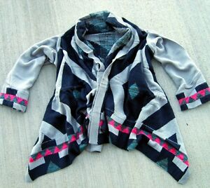 Anthropologie-Sweet-Chevron-Navajo-Print-Sweater-Coat-Cardigan-25-C97-M