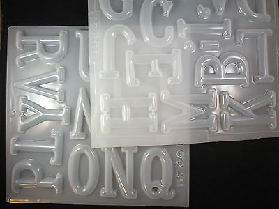 "Resin Mold Alphabet Letters 2.75"" 7cm Capital Clock Initial Signs Letter Jewelry"