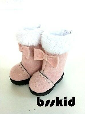 NEW Blythe Pullip Lati Yellow Shoes PINK Santa Christmas Boots Winter Fur Bow