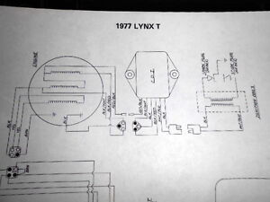 arctic cat wiring diagram 1977 lynx s t ebay. Black Bedroom Furniture Sets. Home Design Ideas