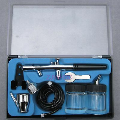 Dual Action Drawing Siphon Bottom Airbrush Paint Spray Kit Set Tattoo Craft Art