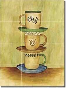 Mullen Coffee Art Kitchen Decor Ceramic Tile Mural Ebay