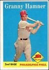 1958 Topps Granny Hamner Philadelphia Phillies #268 Baseball Card