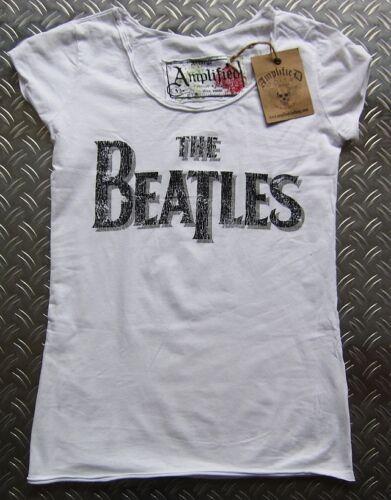 Hot AMPLIFIED THE BEATLES Schriftzug Rock Star Vintage Designer Tunika T-Shirt S