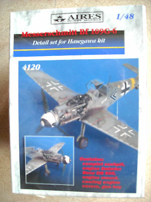 Aires 1/48 #4120 Messerschmitt Bf 109G-6 Detail Set for Hasegawa Kit