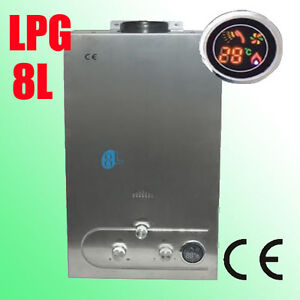 NEW-8L-GAS-LPG-PROPANE-TANKLESS-INSTANT-HOT-WATER-HEATER-BOILER-STAINLESS