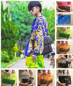 Women-Vivid-Colors-Clear-Plastic-Jelly-Clutch-Bag-Seethrough-Meta-HandBag-Pouch