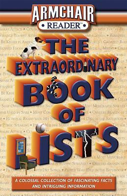Armchair Reader The Extraordinary Book of Lists