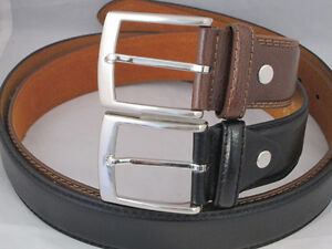BELT-MEN-039-S-SET-OF-2-BLACK-BROWN-JEANS-STYLISH-GIFT-NEW-ALL-SIZES-STYLISH-BUCKLE