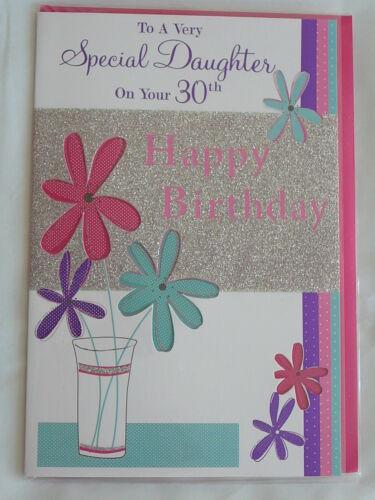 Carte d/'anniversaire 30TH Mâle//Femelle Fille Fils petit-fils petite-fille