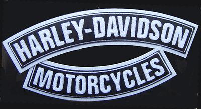 HARLEY DAVIDSON CHENILLE  TOP & BOTTOM ROCKERS JACKET VEST PATCH