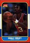 1986 Fleer Sedale Threatt 112 Basketball Card