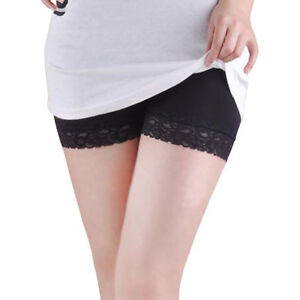 New-Good-Quality-Safety-Shorts-Lady-Leggings-Pants-Lace-Seamless-White-Black