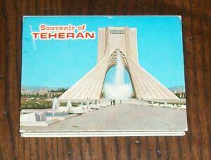 VTG TEHERAN IRAN SOUVENIR POSTCARD RPPC SET TEHRAN BAZAAR MOSQUE SHAH DAMAVAND