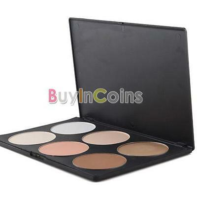 6 Color Makeup Tool Wedding Girl Blush Blusher Contour Palette Powder Present 1#