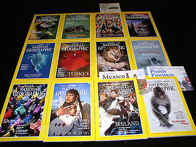 12 NATIONAL GEOGRAPHIC MAGAZINE COMPLETE SET 1994