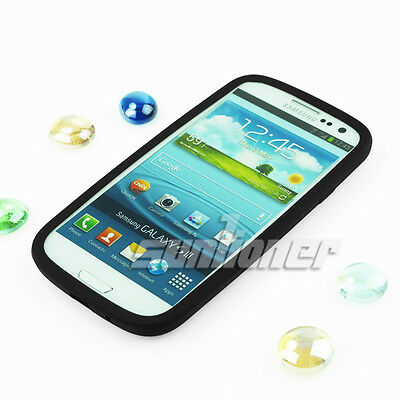 Black Silicone Case Skin Cover for Samsung Galaxy S3, i9300,S iii