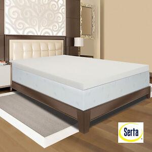 new serta ultimate 4 inch visco memory foam mattress. Black Bedroom Furniture Sets. Home Design Ideas