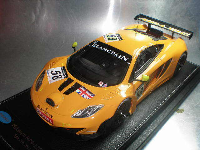 1/18 Peako Mclaren MP4-12C GT3 2011 Spa 24hour #58 Free shipping