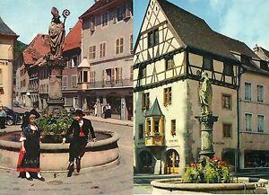 68-THANN-2-CPM-maison-Erhadt-fontaine-boulanger-Haut-Rhin