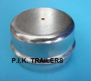 FREE-P-amp-P-50mm-Metal-Grease-Dust-Wheel-Hub-Cap-for-Indespension-Trailers-etc