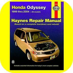 Repair-Manual-Book-Honda-Odyssey-99-04-Mini-Van-Owners