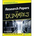Research Papers For Dummies by Geraldine Woods (Paperback, 2002)