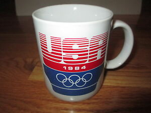 "1984 Games of the XXIII Olympiad LOS ANGELES Olympics USA 4"" Ceramic Mug"