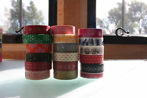 Washi-Tape-pattern-15mmx-15m-Roll-Decorative-Sticky-Paper-Masking-Tape-Adhesive