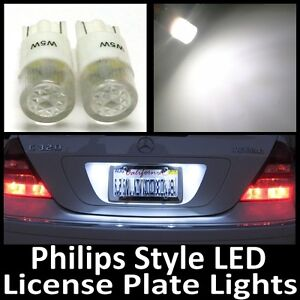 white philips style t10 led license plate tag light bulbs. Black Bedroom Furniture Sets. Home Design Ideas