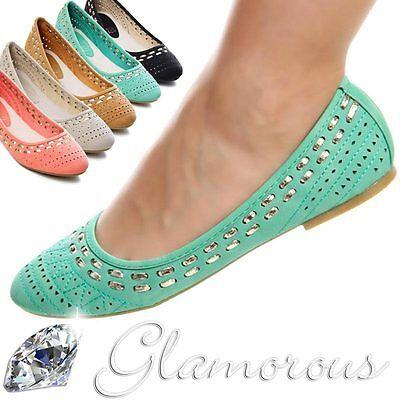 NEW Ballerina Ballerinas Halbschuhe Damen Schuhe Slipper - viele Farben